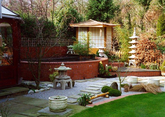 for Japanese style garden house