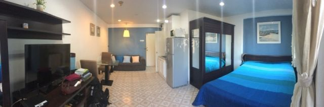 Condo For Rent 35 sqm Studio balcony pool Furniture Air-condition TV Refrig 16K